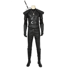2019 TV  Geralt of Rivia Costume Cosplay Leather Uniform Shoes Adult Men Halloween Carnival Outfit Custom Made