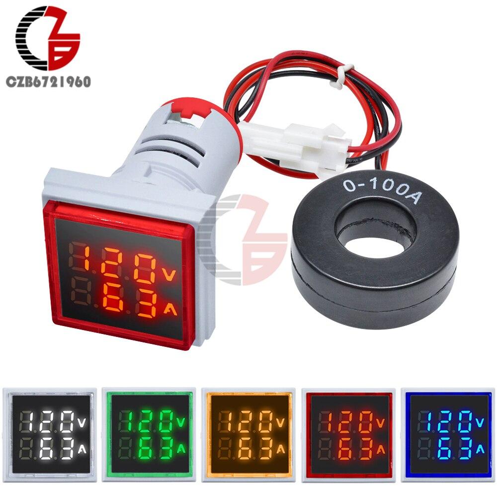 AC 50-500V 0-100A LED Digital Voltmetro Amperometro 110V 220V di Tensione Auto Misuratore di Corrente Della Batteria Volt amp Tester del Monitor del Rivelatore