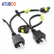 2pcs/Lot 12V/24V H4 Wire Cable Relay Harness Control Cable For H4 Hi/Lo Bi-Xenon Projector Lens HID Bulbs Wiring Controller rockeybright h4 bi xenon headlight bulb controller hid xenon bulb h4 hi lo headlamp relay cable wiring harness for h4 xenon lamp
