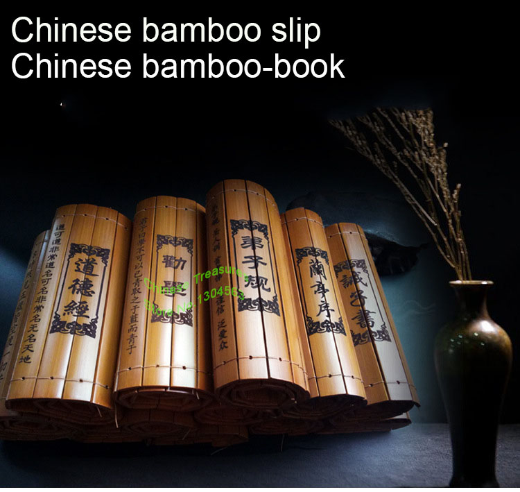 Chinese Bamboo Slip Classical Bamboo-Book Scroll 20cm*60cm, Chinese Traditional Culture Calligraphy Painting Supplies