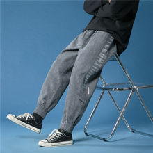 Pants Streetwear Joggers Casual Trousers Harem Corduroy Fashion Spring Ankle-Length Mens