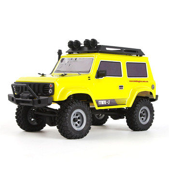 URUAV RC Car 1:24 4WD 2.4Ghz 15km/h Remote Control Car Mini RC Car Brush Motor Crawler Model Vehicle Waterproof RTR Toys Model 1