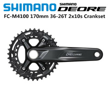 Nieuwe 2020 Shimano Deore Fc M4100 Crankstel 170Mm 36T 26T 2X10 Speed Mtb Fiets breed Scala 170Mm Crankarm 36T 26T Kettingblad