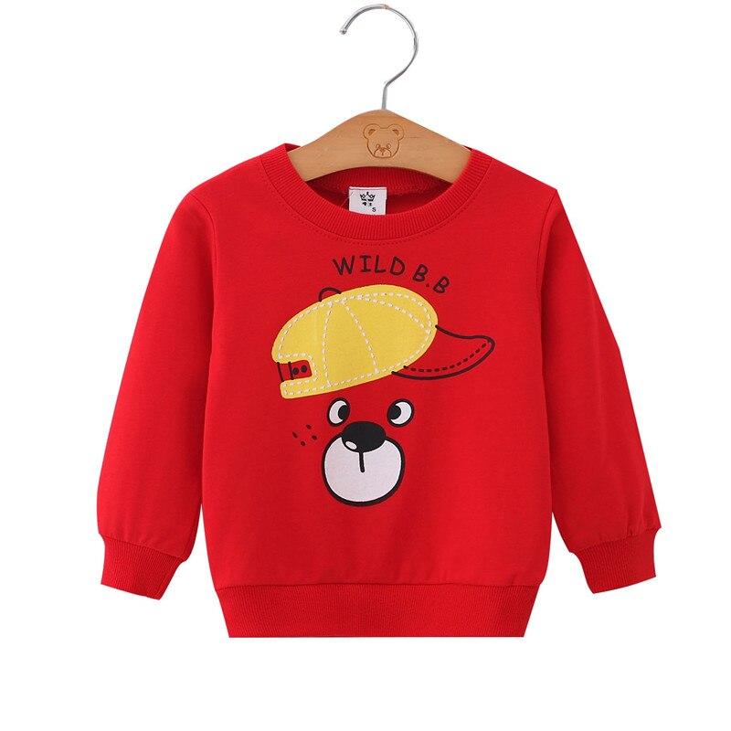 Toddler Kids Pullover Baby Girl Red Animals Cartoon Sweatshirt Coat Tops Winter Clothing Winter Kids Sweatshirt 73 80 90 100 110