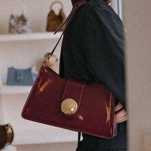 Retro Small Flap Bags Women Handbags Casual Pu Shoulder Brand Designer Solid Color Chic Hasp Wrist