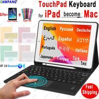 TouchPad Keyboard for iPad 10.2 2019 Keyboard Case for Apple iPad 9.7 2017 2018 Air 2 3 Pro 9.7 10.5 11 2018 2020 Keyboard