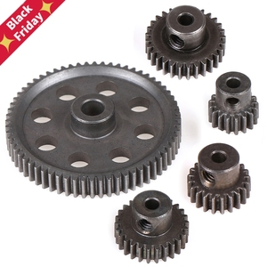 11184 Metal Diff Main Gear 64T 11181 Motor Pinion Gears 21T Truck 1/10 RC Parts HSP BRONTOSAURUS Himoto Amax Redcat Exceed 94111(China)