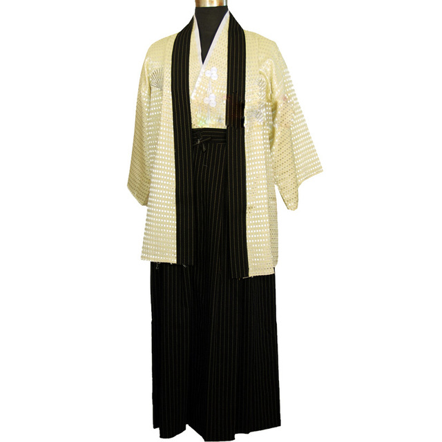Boys Cosplay Costume Japanese Kids Kimono Yukata Traditional Samurai Robe Halloween Costumes Children Performance Clothes 4