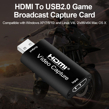 4K HDMI to USB 2.0 Video Capture Card HD Recorder game Switch game live ps4ns/xbox recording box Camera Recording Live Streaming