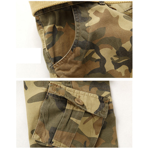 Image 4 - Hot sale free shipping men cargo pants camouflage  trousers military pants for man 7 colors