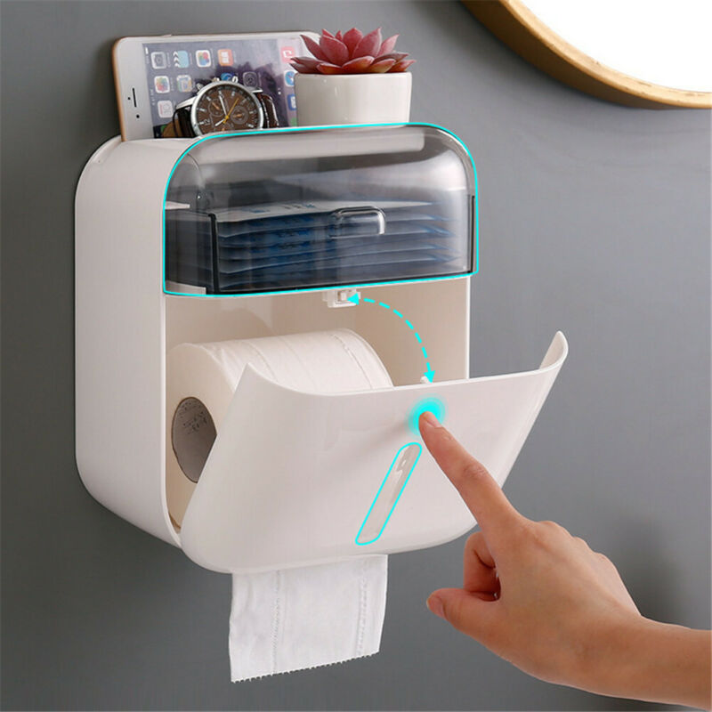 Dispenser For Toilet Paper Holder Wall Mounted Paper Towel Holder Bathroom Tissue Box Kitchen Roll Holder Rack For Toilet Paper