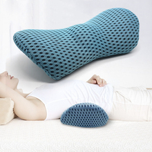 Breathable Memory Cotton Physiotherapy Lumbar Pillow Waist For Car Seat Back Pain Support Cushion Sleep Bed