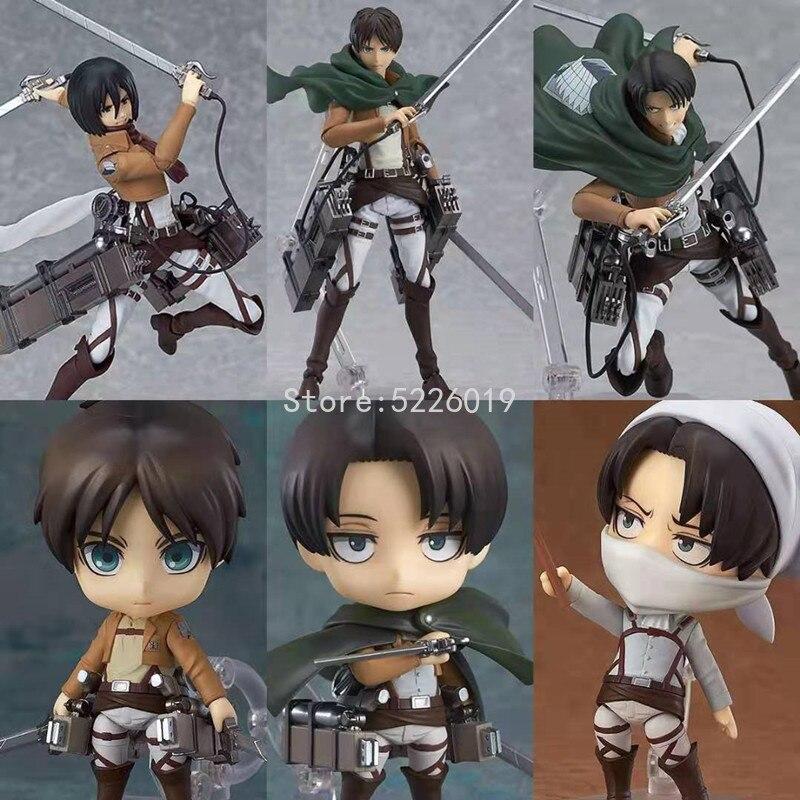 390# Attack On Titan Anime Figure Levi Ackerman Action Figure Levi Figurine Shingeki no Kyojin Levi Figure Collectible Model Toy