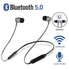 цена на FOOVDO 5.0 Bluetooth Earphones Waterproof Wireless Headphones Sport Neckband Support TF Card Earbuds Headset with Mic