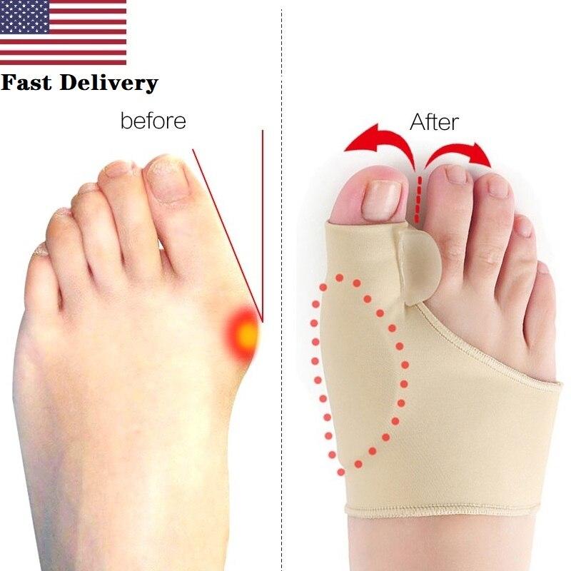 Big Toe Splint Separator Hallux Valgus Bunion Corrector Orthotic Feet Care Thumb Adjuster Correction Pedicure Socks Straightener
