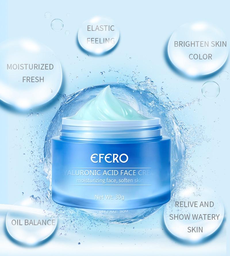 Image 3 - EFERO Hyaluronic Acid Essence Serum Aloe Vera Day Cream Face Cream Moisturizing Anti Aging Wrinkle Whitening Bright Face Cream-in Serum from Beauty & Health