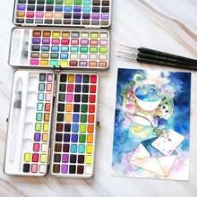 72 цвета сплошные акварельные краски в наборе Набор цветных