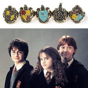 Hp ювелирные изделия Классическая Школа Хогвартс и пыльников 4 Школьные Логотип кольца на палец, мужские стимпанк H кольцо змея