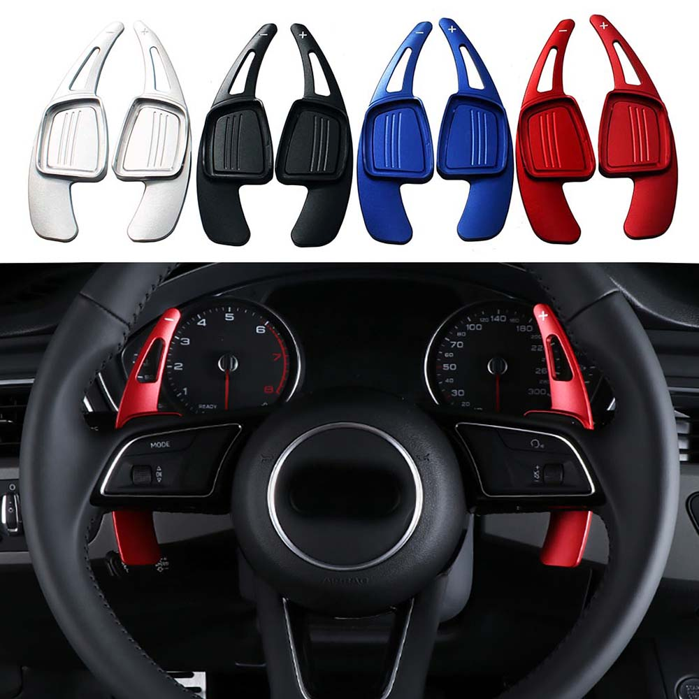 Steering Wheel Gear Shift Paddle Extension For Audi A3 4 A5 A6 A7 A8 Q3 Q5 Q7 TT