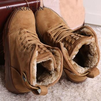 Ankle Boots Women Winter Snow Short Boots Ladies Casual Platform Boots Fashion Black Wedge Shoes For Women Bota Feminina 2020 winter boots women 2018 new fashion ladies shoes sexy ankle boots for women beige black scarpe donna 8cm
