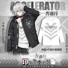 Anime Toaru Kagaku Geen Railgun Accelerator Cosplay Herfst Windjack Jas Casual Hoodie T shirt Broek Mode Pak