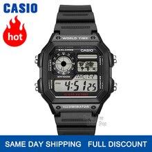 Zegarek Casio Zegarek eksplozji mężczyźni top luksusowa marka LED wojskowy zegarek cyfrowy sport Wodoodporny zegarek kwarcowy męski zegarek relogio masculino reloj hombre erkek kol saati montre homme AE 1200WH AE 1300