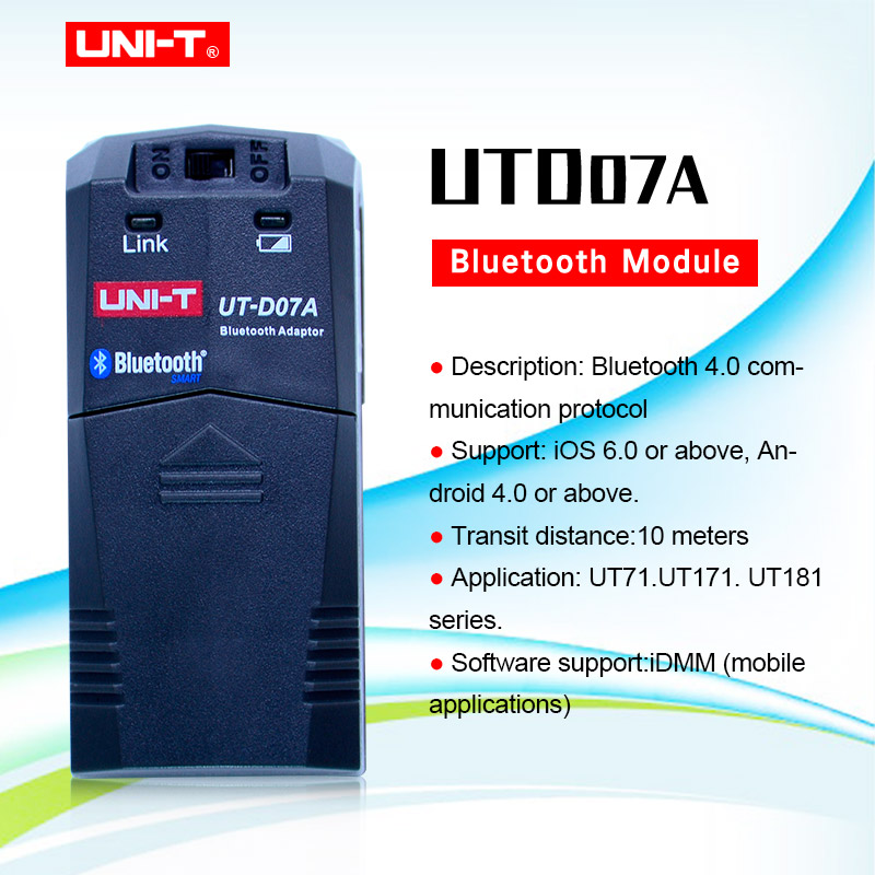 UNI-T UTD07A <font><b>bluetooth</b></font> modul <font><b>f</b></font>ür UNI-T UT181A, UT171A und UT71E digital multimeter <font><b>Bluetooth</b></font> adapter image