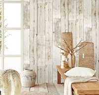 3d Vintage Faux Wood Panel Wallpaper for walls self adhesive Contact paper Hotel Library Bedroom Living room Wall Decoration