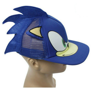 Anime New Sonic The Hedgehog Cartoon Youth Adjustable Hip Pop Hat Cap Blue For Boys Sonic Hot Selling Cosplay party gifts Toys(China)