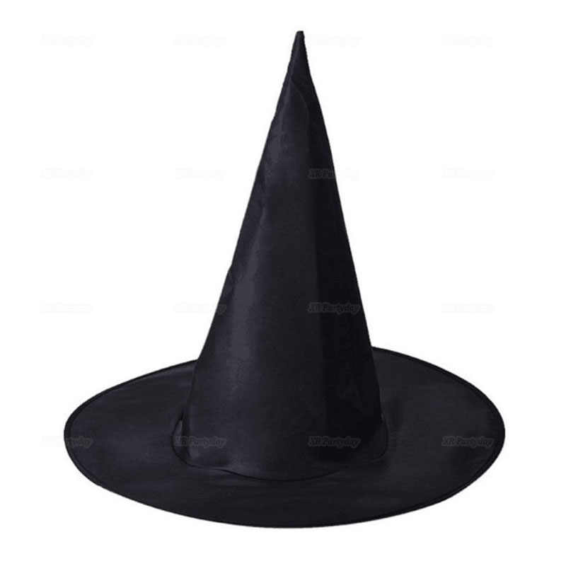 Black Witch Hats Masquerade Wizard Hat Party Hats Cosplay Halloween Party Fancy Dress Decor Top Hat Dropshipping navidad