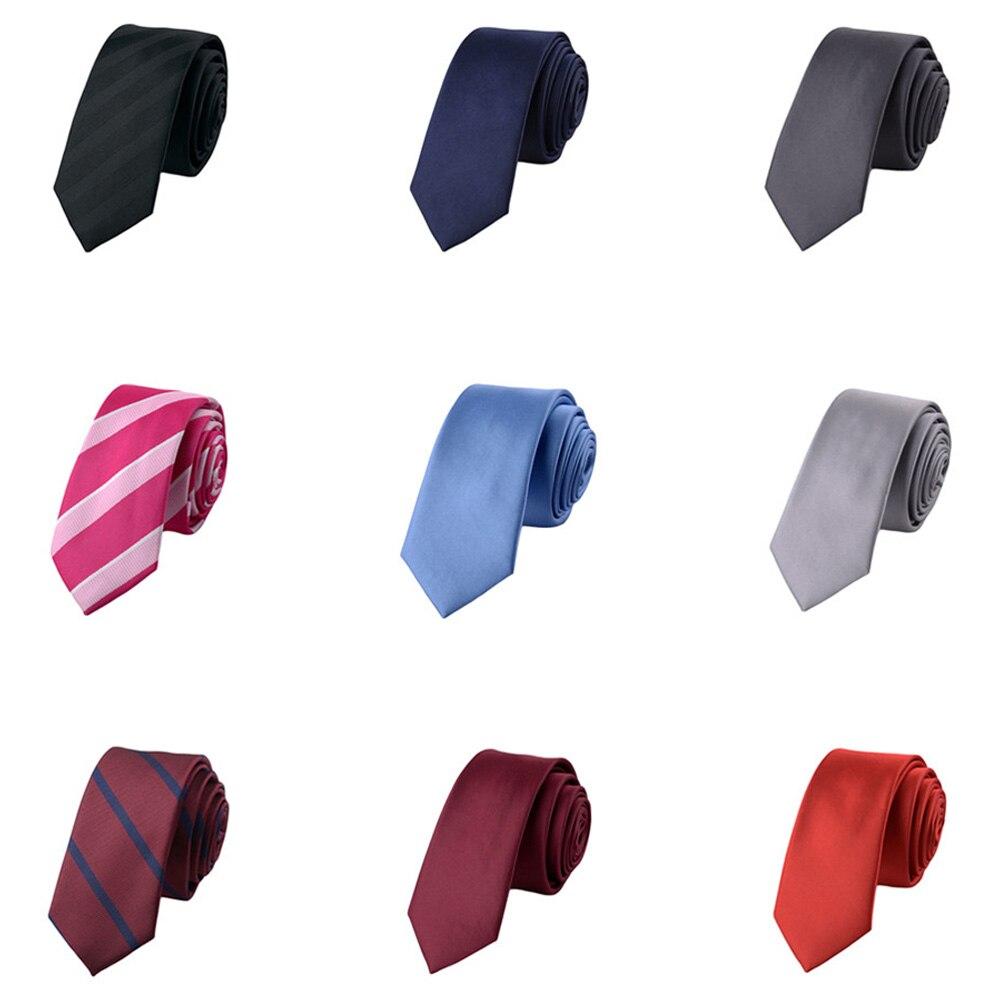 Mens 5CM Skinny Stripe Neckties Wedding Party Jacquard Woven Formal Neck Ties