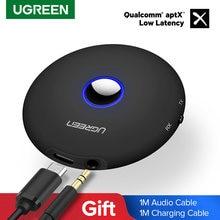 Ugreen-Receptor y transmisor de Audio con Bluetooth 5,0, adaptador de conector Aptx de 3,5mm para TV, auriculares, PC, adaptador de música