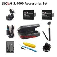SJCAM-Bolsa de batería SJ4000, accesorios, monopié, trípode flotante Bobber para cámara SJ CAM 5000 M10 plus sj5000x Elite, Cámara de Acción