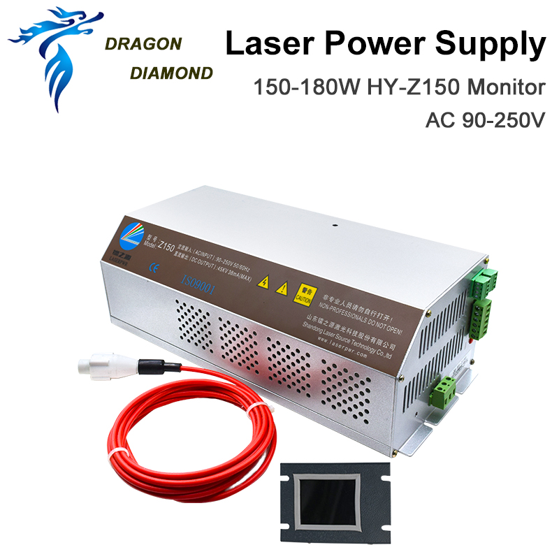 DRAGON DIAMOND 150-180W CO2 Laser Power Supply Monitor AC90-250V Z150 For CO2 Laser Engraving Cutting Machine HY-Z150 Z Series