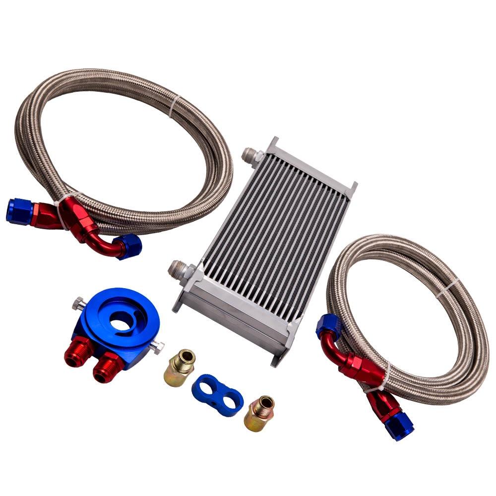 19 rangée AN10 universel moteur Transmission huile refroidisseur filtre adaptateur tuyau Kit