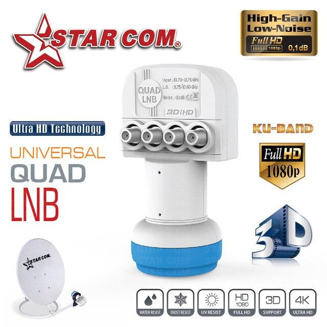 5 pièces Quad LNB pour récepteur de télévision par Satellite bande KU universel Quad LNB faible bruit Figure 0.1dB LNBF polarisation linéaire LNB
