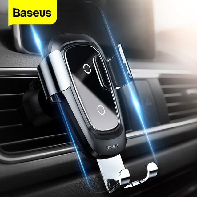 Baseus Qi Wireless Car ChargerสำหรับiPhone 11 Pro Max X Fastรถไร้สายชาร์จสำหรับXiaomi Mi 9ผสม3 Samsung S10 S9