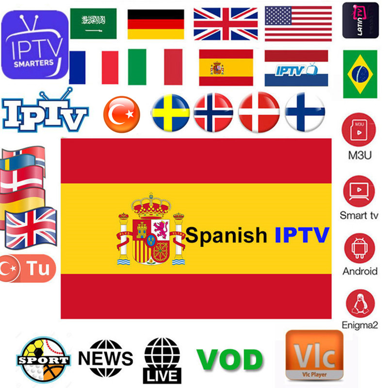 1 Year Europe IPTV Subscription France UK German French Spain Portugal For Smart TV IPTV M3U Enigma2 Android VLC 2 Devices