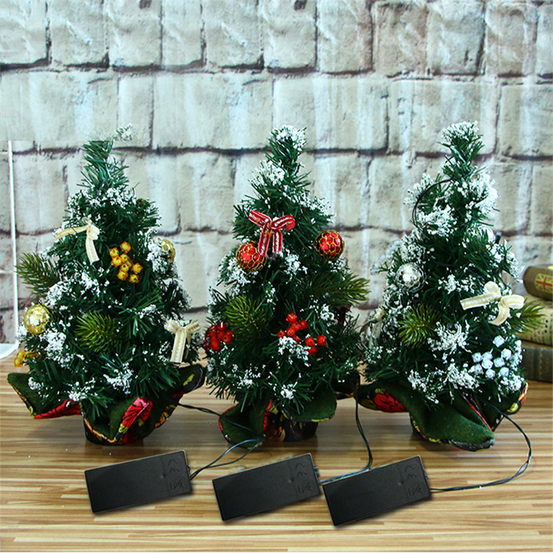 Christmas Decorations 30cm For Home Artificial  Mini Tree Festival Miniature for DIY Decor