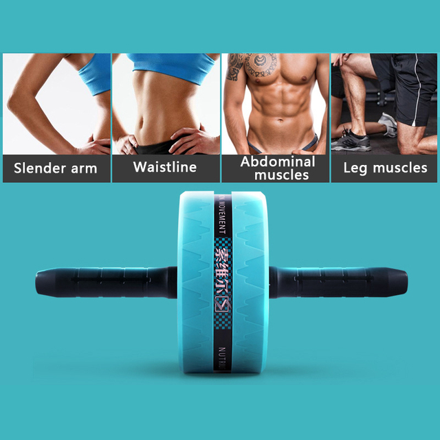 Ab Roller Exercise Fitness Ab Wheel Muscle Training Double-wheel Apparatus Press Roll Abdominal Muscle Equipment 3