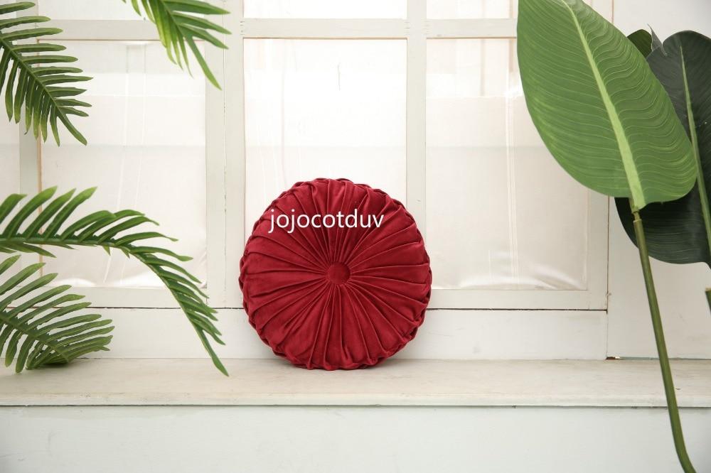 H9e4ab8a86a644ba98832ef65b55f61edH 35*35x11cm European style round Seat cushion/Back cushion or as home decor pillow sofa pillow velvet fabric