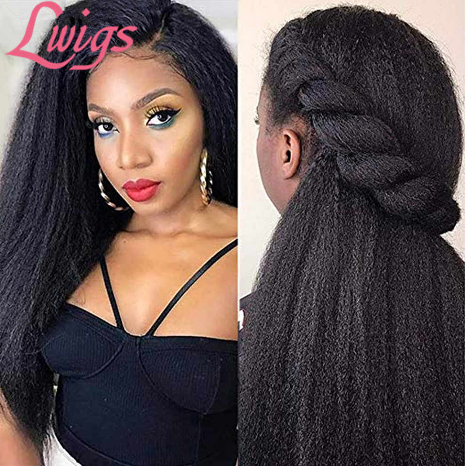 Cheap Glueless Full Lace Human Hair Wigs With Baby Hair Pre Plucked Hairline Yaki Straight Full Lace Wigs Peruvian Remy Hair