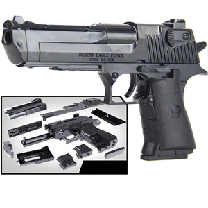 Military Police SWAT Weapon DIY Toy Gun Desert Eagle Model Building Blocks Assembly Brain Game Can Fire Bullets Kits Kids Toys(China)