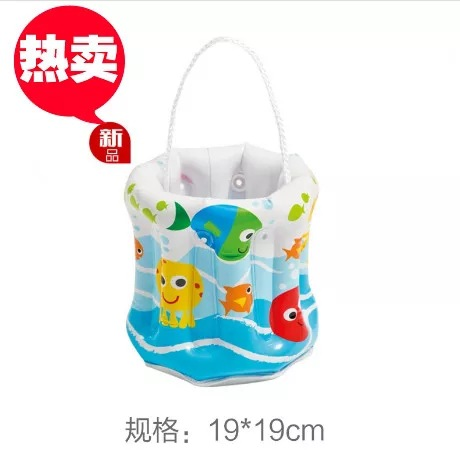 Children Diving Mask Beach Toys Bucket Sand Playing Tool Water Toys Inflatable Bucket Customizable