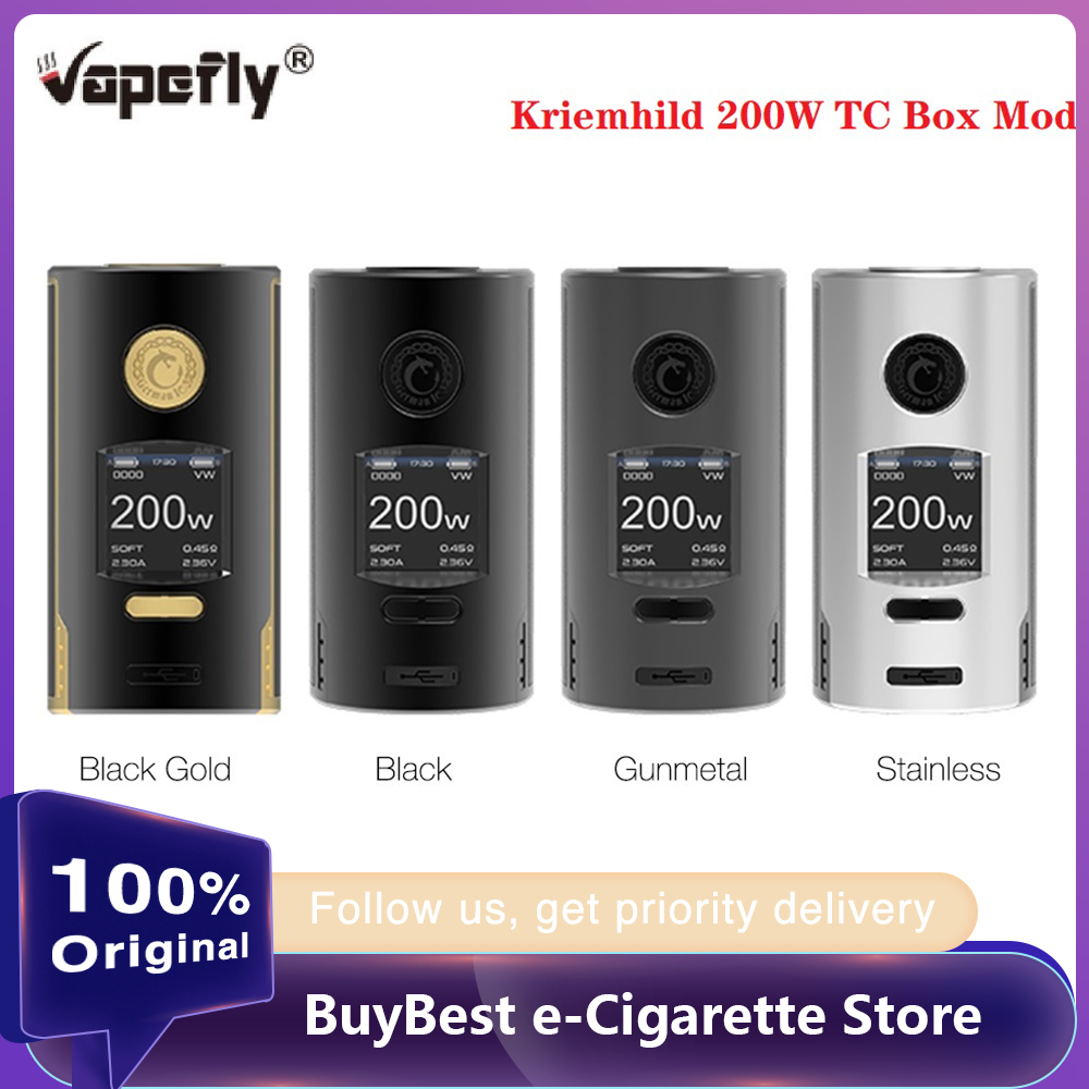 Pre-order Original Vapefly Kriemhild 200W TC Box Mod Wi/ 1.33 Inch TFT Screen Fit 18650/20700/21700 Battery Box Vape VS Gen Mod
