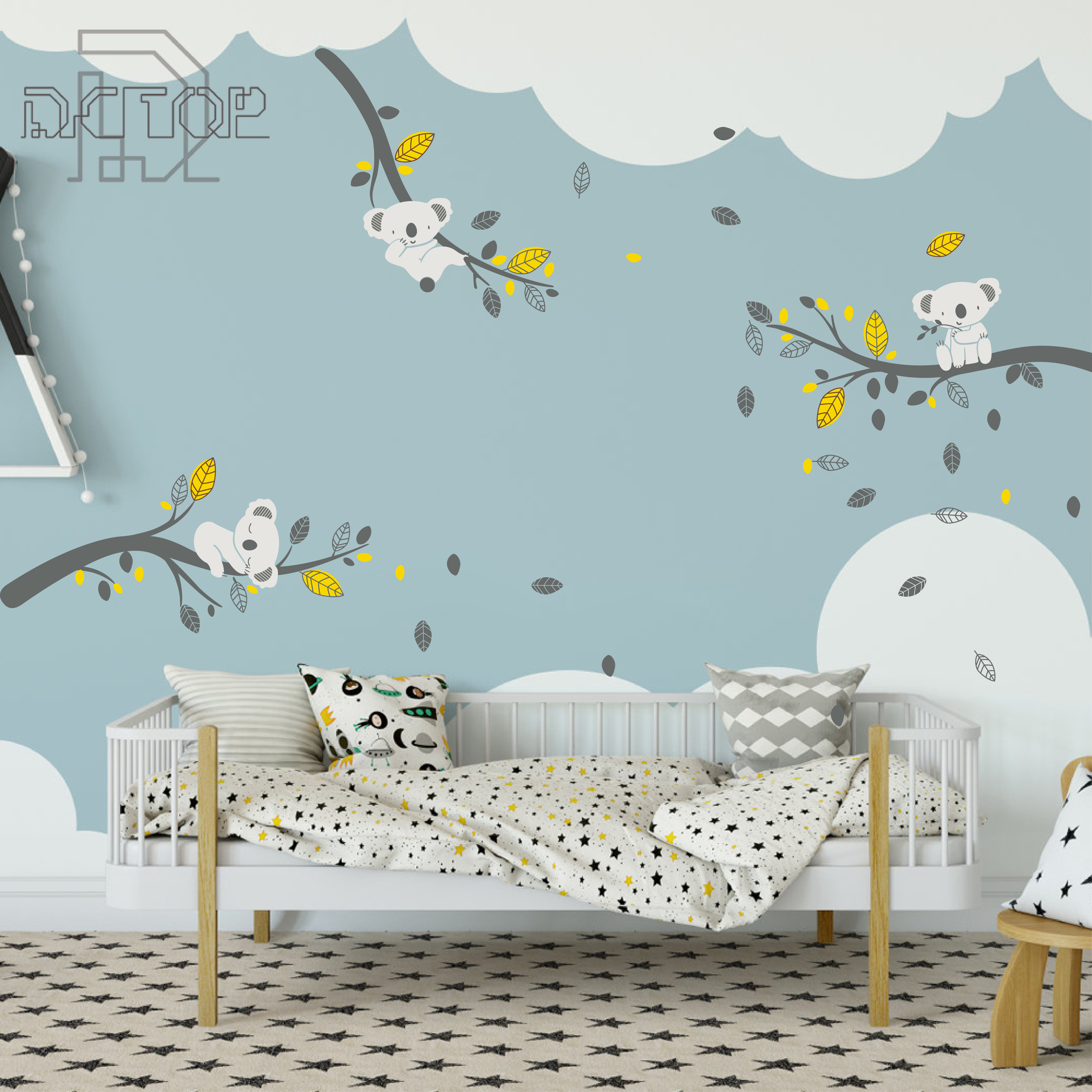 Dragonflies Koala Bear Wall Decal