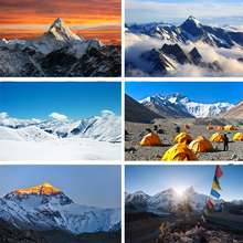 Panoramic Photograph of Mount Dhaulagiri Dramatic Himalayan Nepal Landscape Background for Kid Baby Boy Girl Artistic Portrait Photo Shoot Studio Props Video Drape 10x12 FT Photography Backdrop