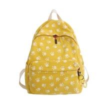 Fresh Backpack 100% Cotton Canvas School Bag for Teenage Girls Large Capacity Cartoon Leisur Or Travel Bag for Women Package недорго, оригинальная цена