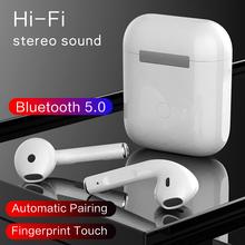 Oryginalny TWS w ucho słuchawka Bluetooth Mini bezprzewodowy Sport słuchawki douszne Stereo słuchawki fone de ouvido auriculares PK i9000 tanie tanio LARNEDUO Zaczep na ucho Orthodynamic CN (pochodzenie) wireless 120dB 32Ω 20 - 20000Hz Dla Telefonu komórkowego Słuchawki HiFi