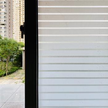 Matte Stripe Window Film Stained Glass Decorative Uv Window Sticker Privacy  Frosted Self Adhesive Film Window Decal for Glass luckyyj3d glue free frosted electrostatic self adhesive glass sticker toilet translucent privacy protection,window film sticker